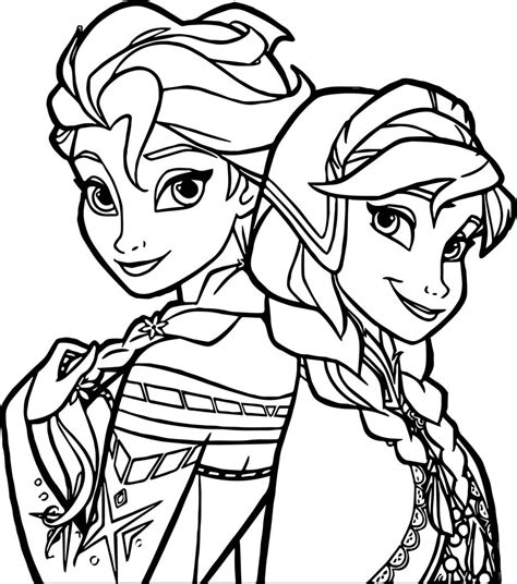 frozen sisters coloring page wecoloringpagecom