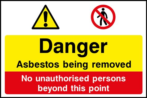asbestos removal sign health  safety signs