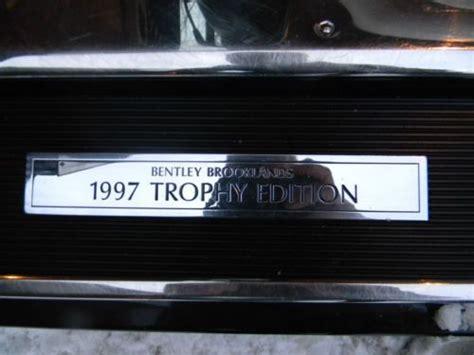 find   bentlet brooklands trophy edition