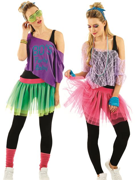 Ladies 1980s Tutu Kit Adults Neon Disco Fancy Dress Womens 80s Retro Lace Outfit | eBay