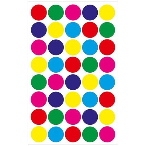 colored circle 3 4 quot stickers circle stickers hygloss
