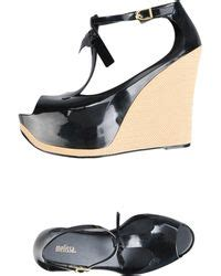 womens melissa wedges lyst