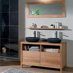 14 best images about idees de meubles pour vasques on With meuble salle de bain bois 2 vasques