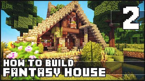 minecraft   build fantasy house part   youtube