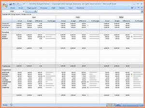 12 budget vs actual spreadsheet budget spreadsheet for Budget to actual template