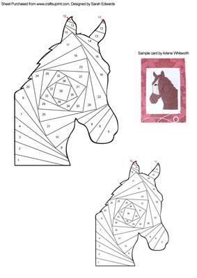 horse head iris folding pattern iris folding pattern