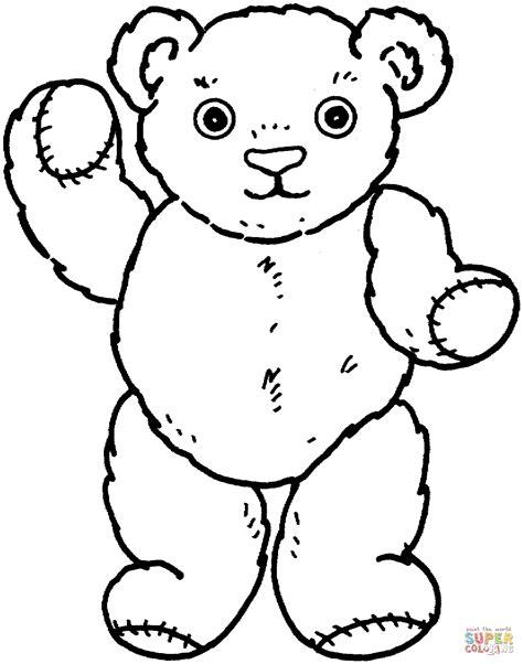 Kleurplaat Teddybeer by Knuffelbeer Kleurplaat Gratis Kleurplaten Printen