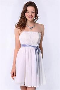 Robe Mariage Dentelle : petite robe blanche bustier en dentelle pour mariage ~ Mglfilm.com Idées de Décoration