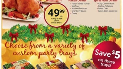 Safeway makes the holiday easy with turkey, ham and prime rib dinners and all come with all the trimmings. Christmas Dinners From Safeway : 100 30 Minutes Or Less ...
