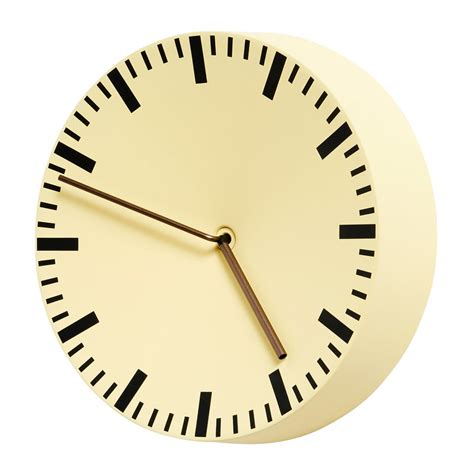 hay analog wall clock light yellow design shop