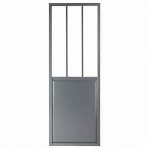 Porte De Service Leroy Merlin : porte coulissante aluminium gris fonc verre tremp ~ Melissatoandfro.com Idées de Décoration