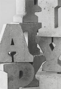 Concrete letters the letter room pinterest for Press in letters for concrete