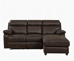 Piece small leather sectional sofa with reclining back for Reclining sectional sofa for small space