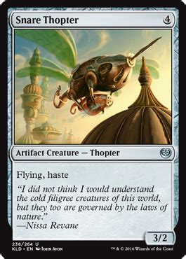 thopter deck magic duels snare thopter from kaladesh spoiler