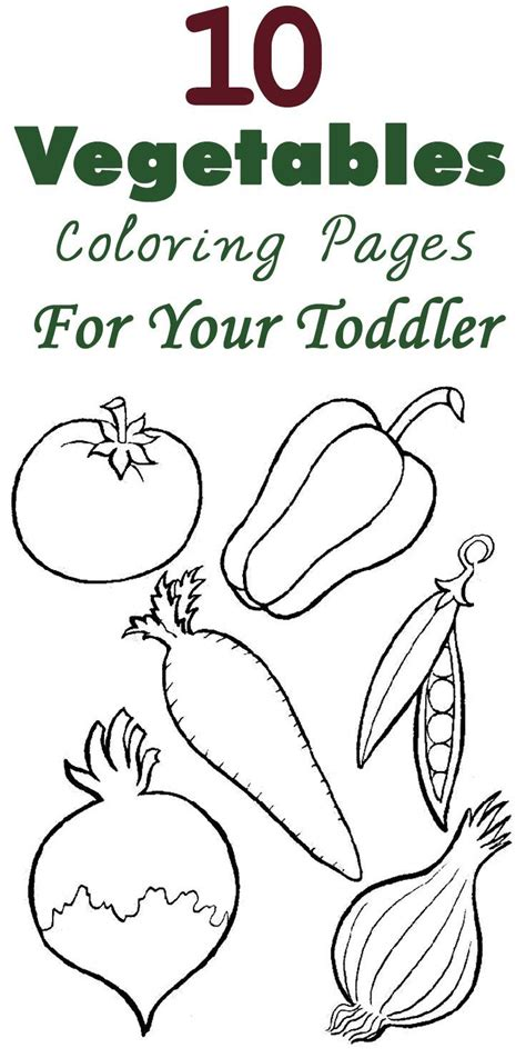 top   printable vegetables coloring pages