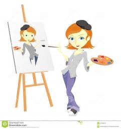 Female Painter Artist Clip Art