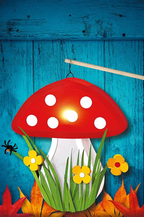 Pilze Für Garten Basteln by Fliegenpilz Laterne Basteln Craft