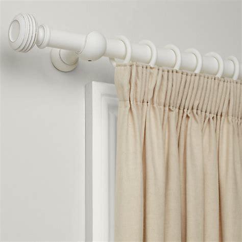 buy lewis distressed curtain pole kit white dia