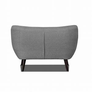 Canapé Gris Clair Tissu : canap 2 places design en tissu gris clair axelle matelpro ~ Melissatoandfro.com Idées de Décoration