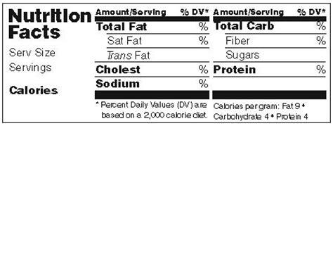 blank nutrition label template word blank nutrition facts label template nutrition ftempo