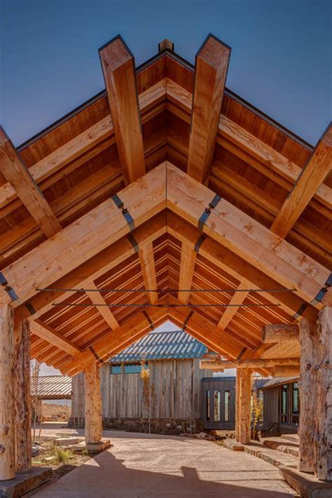 Rustic Modern Day Log Home In Utah Wolf Creek Ranch