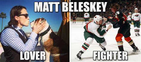 Anaheim Ducks Memes - a meme dedicated to the two different sides of matt beleskey people i love pinterest meme