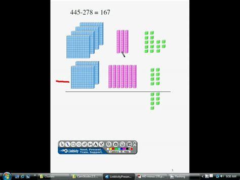 subtraction  base ten blocks youtube
