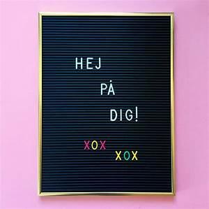 letter board omm design With letter board gold frame