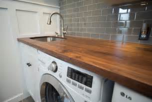 Stainless Steel Laundry Sink Undermount walnut counter with stainless undermount sink craftsman
