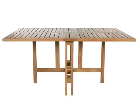 table de terrasse pliante table de jardin pliante rectangulaire en teck gateleg by