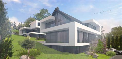 Moderne Häuser Mit Satteldach Am Hang by Modernes Architekten Wohnhaus Individuell Geplant
