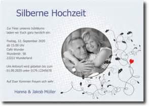 einladung silberne hochzeit silberhochzeit einladungskarten mit foto selber gestalten
