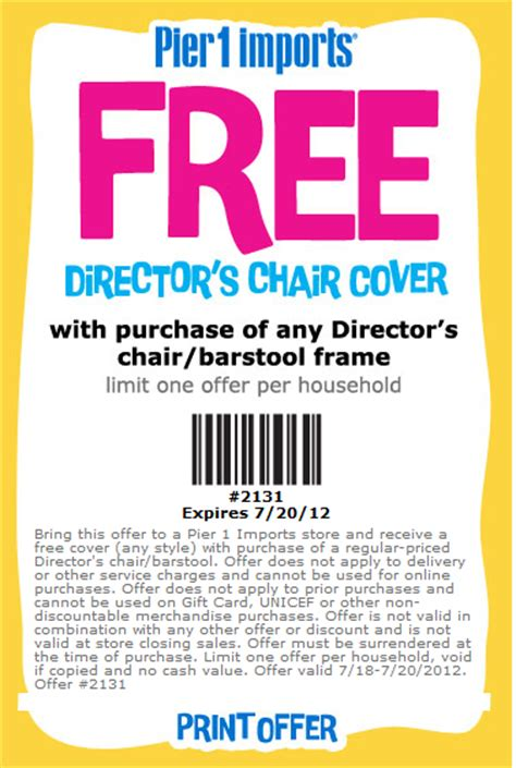 pier 1 imports free chair cover printable coupon