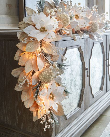 white silver collection  pre lit garland