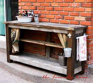Patio Buffet Table - WoodWorking Projects & Plans