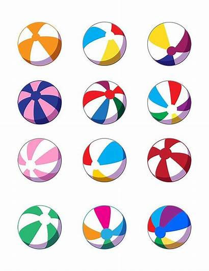 Balls Clipart Ball Colorful Clip Cartoon Sun