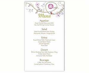 diy menu mariage og41 jornalagora With diy wedding menu template free