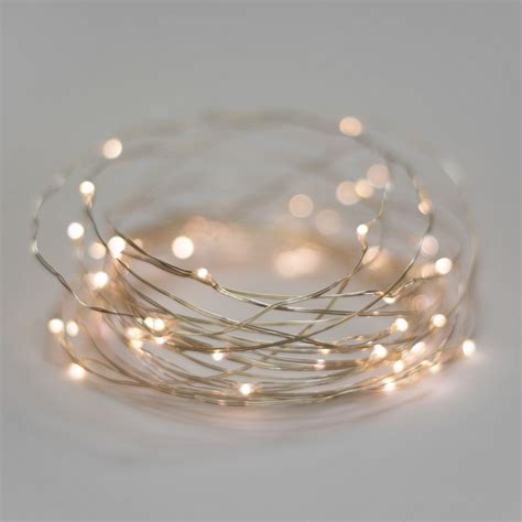 battery operated lights warm white 40 led wire