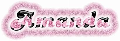 Amanda Glitter Graphics Names Rose Text Pink