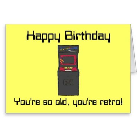 gamer birthday retro arcade game gamer happy