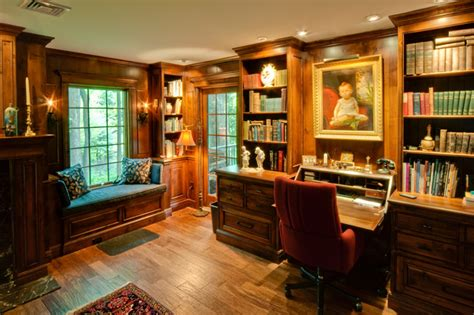 compass reading room traditional home office