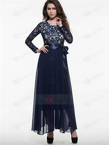maxi robe manches longues ceinture lace tidebuycom With maxi robe longue