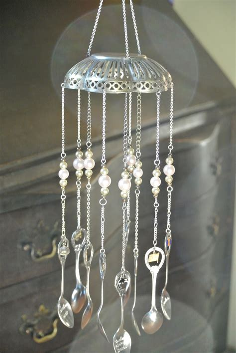 sarahracha wind chimes   recycled items