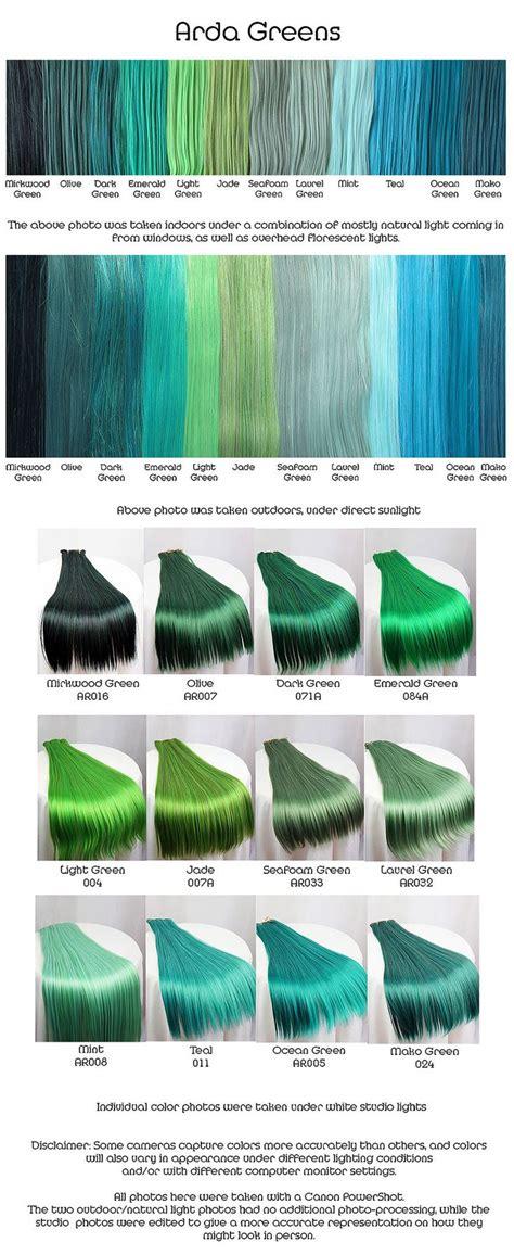 hair   teal hair category  adore hair color green
