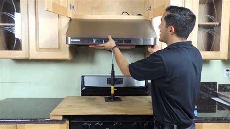 cabinet range hood installation  version youtube