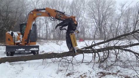 case cx timberline tree shear youtube