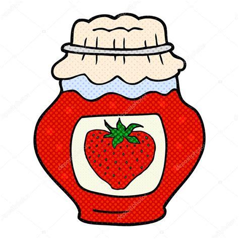 pot de dessin anim 233 de confiture de fraises image vectorielle 96685216