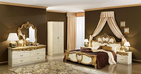 Biaggio Ivorygold Bedroom Collection  Classic Bedroom