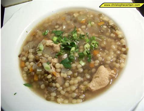cuisine pied noir soupes de poulet recette avec légumes lentilles et