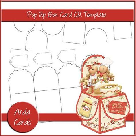 pop up card box template christmas 3 pop up box card templates commercial use design resources